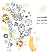Rośliny i ptaki — Wektor stockowy