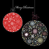 Decorative Christmas balls — Stock Vector