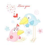 Love birds — Vector de stock