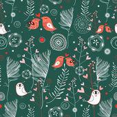 Vegetable texture with birdies lovers — Stock Vector