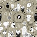Texture of love owls — Stock Vector #8403786