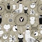 Texture of love owls — Stock Vector
