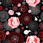 Gráfico padrão floral — Vetorial Stock
