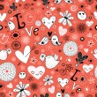 Royalty-Free Stock Vector Image: Texture to the Valentine\'s Day