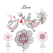 Love birds — Vetorial Stock