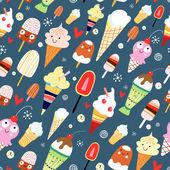 Texture of ice cream — Stock Vector