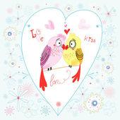 Love parrots — Stock Vector