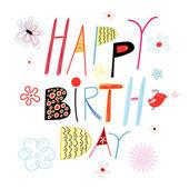 Cartão de felicitações no seu aniversário — Vetorial Stock