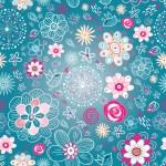 Постер, плакат: Flower texture with birds