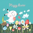 Happy easter bunny - Image vectorielle