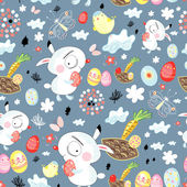 Pattern of Easter bunnies — Stock Vector
