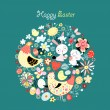 Easter card greeting — Stock Vector