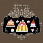 Delicious cakes — Stock Vector #9148835