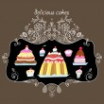 Delicious cakes — Stock Vector