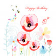 Royalty-Free Stock Vector Image: Flower Greeting Card