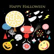 Stock Vector: Greeting card with Halloween