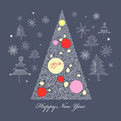 Albero di Natale — Vettoriale Stock