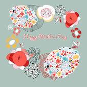 Cartão flor — Vetorial Stock