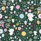 用兔子花纹理 — 图库矢量图片