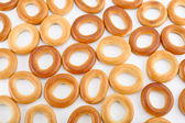 Background of bagels — Stock Photo