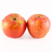 Ripe red apples isolated on white background — Stock Photo