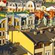 Colorful roofs in winter in Kyiv, Ukraine — Stock Photo