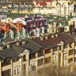 Colorful roofs in winter in Kyiv, Ukraine — Stock Photo #9619414