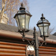 Foto Stock: Iron Street Lanterns