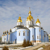 St. Michael's Golden-Domed Monastery - famous church in Kyiv, Ukraine — Stock Photo