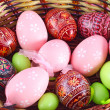 Basket full of easter eggs — Stock Photo #9657063