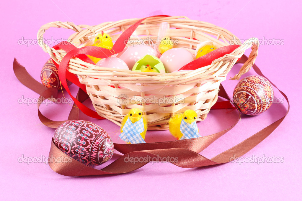 Filled Easter Baskets Easter Basket Filled With Eggs