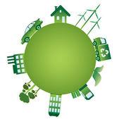 The green world. — Stock Vector