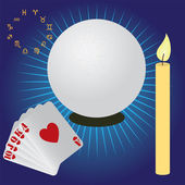 Items for fortune telling. — Stock Vector