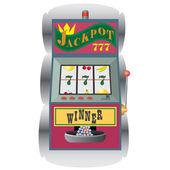 Slot machine with winning combination. — Stock Vector