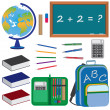 Set of objects for education in school. — Stock Vector