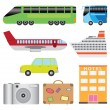 Tourism transport set. — Stock Vector