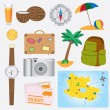 Objects about vacation theme. — Stock Vector