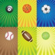Set of balls for sport games. — Stock Vector