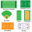 Stock Vector: Set of fields for sport games.