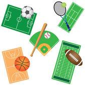 Set of sport games. — Stock Vector