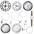Stock Vector: Set of clocks.