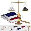 Stock Vector: Object about court theme.