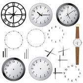 Set of clocks. — Stock Vector