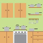 Kitchen room. — Stock Vector