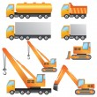 Construction machinery. — Stock Vector
