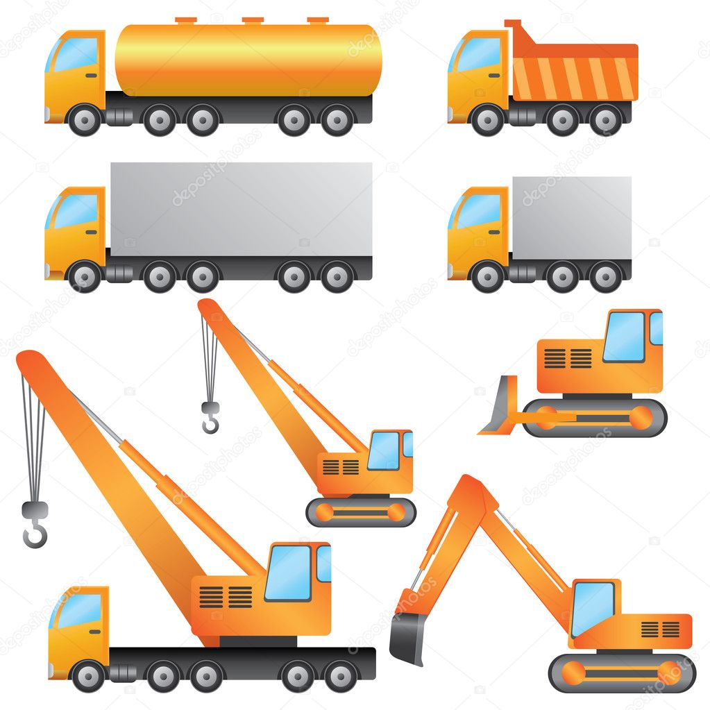 Construction machinery stock illustration