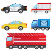 Set of cars. — Stock Vector