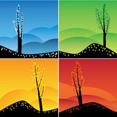 Four seasons set. — Stock Vector