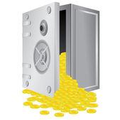 Safe with open door. — Stock Vector