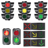 Set of traffic lights. — Stock Vector